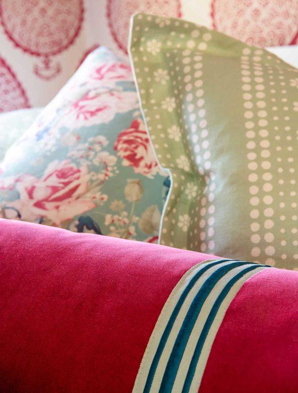 pink girls room pillow