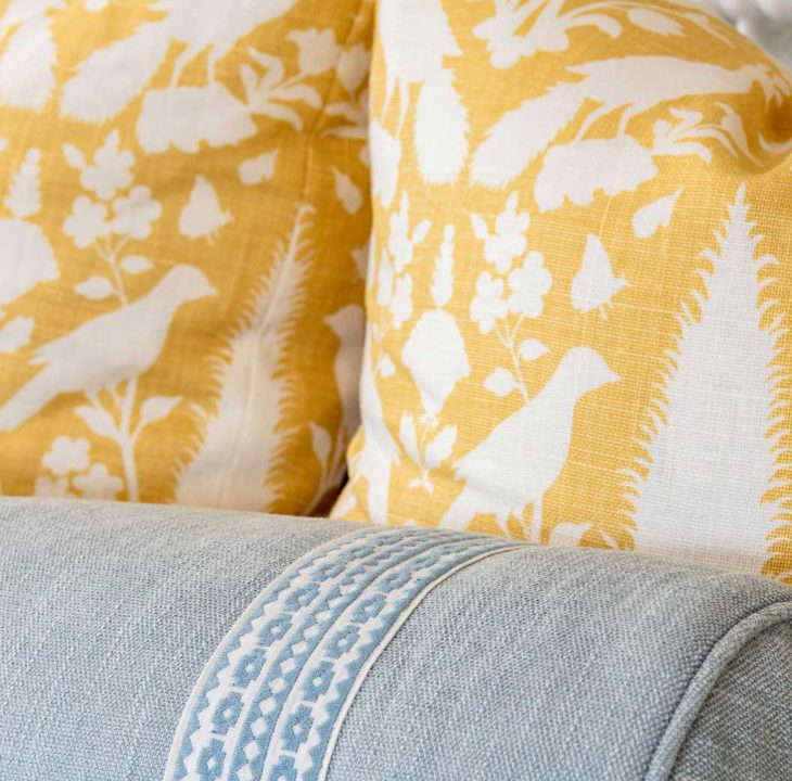 yellow guest room decor