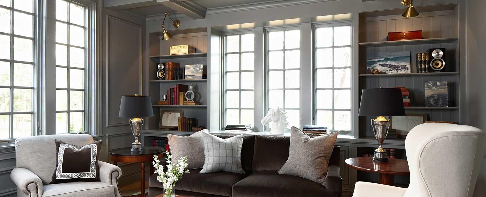 Holdridge built in living room